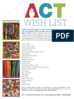 ACT Wish List Flier_Festival Day 2015
