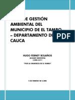 Plan Gestion Ambiental Cauca