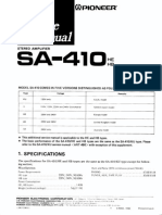 Pioneer SA-410 Service Manual