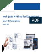 FXCM Q4 2014 Earnings Presentation