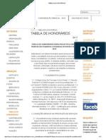 Tabela de Honorários Paisagismo