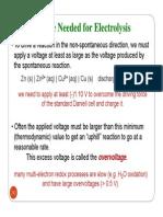 Faraday's Law of Electrolysis