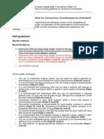 ESO Guideline Update Jan 2009
