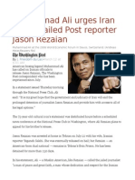 Muhammad Ali Urges Iran to Free Jailed Post Reporter Jason Rezaian