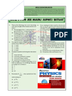 Physics Questions for Jee Main Aipmt Bitsat 2014