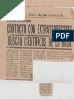 Evidencias OVNI en 1978.