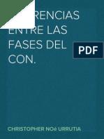 Diferencias Entre Las Fases Del Con.