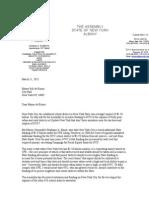 Assemblyman Sam Roberts Letter
