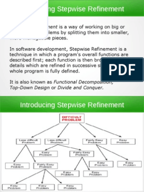 Stepwise Refinement Top Down And Bottom Up Design Neuropsychology