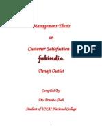 Management Thesis - Customer Satisfaction at Fabindia