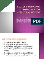 Leczenie pulpopatii odwracalnych