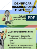 Identificar Funciones Pares e Impares