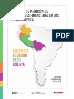 Encuesta de Medición de Capacidades Financieras Informe Comparativo 2014