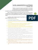 Resumen Del Manifiesto Cluetrain