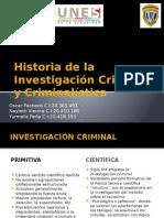 Historia de La Investigación Criminal y Criminalística