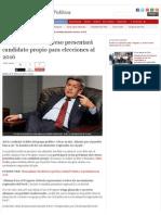 28-02-2015 ALIANZA POR EL PROGRESO PRESENTARÁ CANDIDATO PROPIO PARA ELECCIONES AL 2016