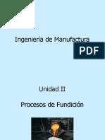 Unidad II Procesos de Fundicion