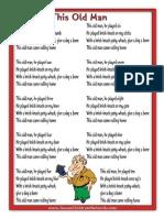 This Old Man Printable Nursery Rhymes