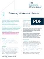 List of Electoral Offences