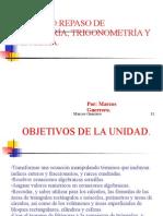 UNIDAD-REPASO DE ALGEGRA,GEOMETRÍA Y TRIGONOMETRÍA