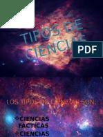Tipos de Ciencias