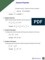 Algebra Exponents Practice