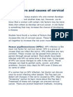 Risk Factors and Causes of Cervical Cancer
