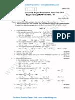Engineering Maths 2 July 2014