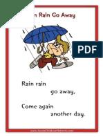 Rain Rain Go Away Printable Nursery Rhymes