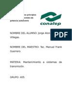 Revision de los principios fisicos de la transmisión de potencia automotriz