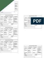 Fichas de Evaluacion Por Clase
