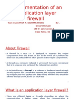 Implementation of an Application Layer Firewall