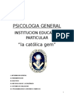 Psicologia General Prof. Veliz