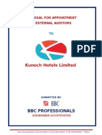 Kunoch Hotels Audit Proposal