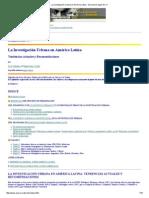 La Investigación Urbana en América Latina - Discussion paper No.pdf