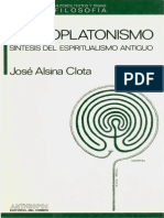Alsina Jose El Neoplatonismo Sintesis de La Espiritualismo Antiguo