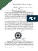 Simulation of Four Quadrant Operation of Sensor less BLDC Motor