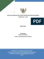 RPJMN 2015 - 2019 Terkait Bidang Tata Ruang Dan Pertanahan