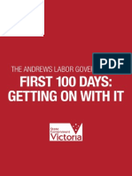 First 100 Days - Getting on With It