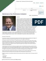 KPIs Maintanance