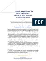 Narrative, Memory and the Crisis of Mimesis