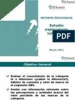 Informe Final Cualitativo Mercado de Infusiones en el Perú 2011