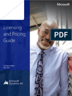 Microsoft Dynamics AX 2012 R3 Licensing Guide May 2014 Customer Edition