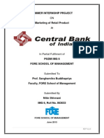 Report on Marketing at Central Bank of India
