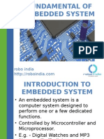 Fundamentals of Embedded System and Electronics
