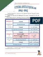 0 Structura an Scolar Calendar 2014 2015