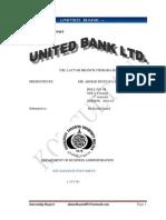 Internship Report.ubl.By Syed Ahmad Mustafa Shah