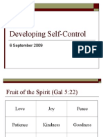 Lesson 10 - Self Control