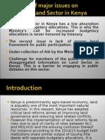 Land Sector Financing in Kenya Presentation