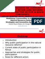 Public Participation Presentation- Felesia Odada